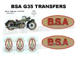 BSA G35 Transfer Decal Set DBSA199